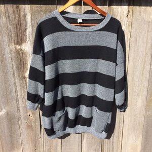 Women's  Black and Gray Sweater